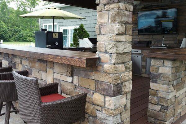 outdoor kitchen counter