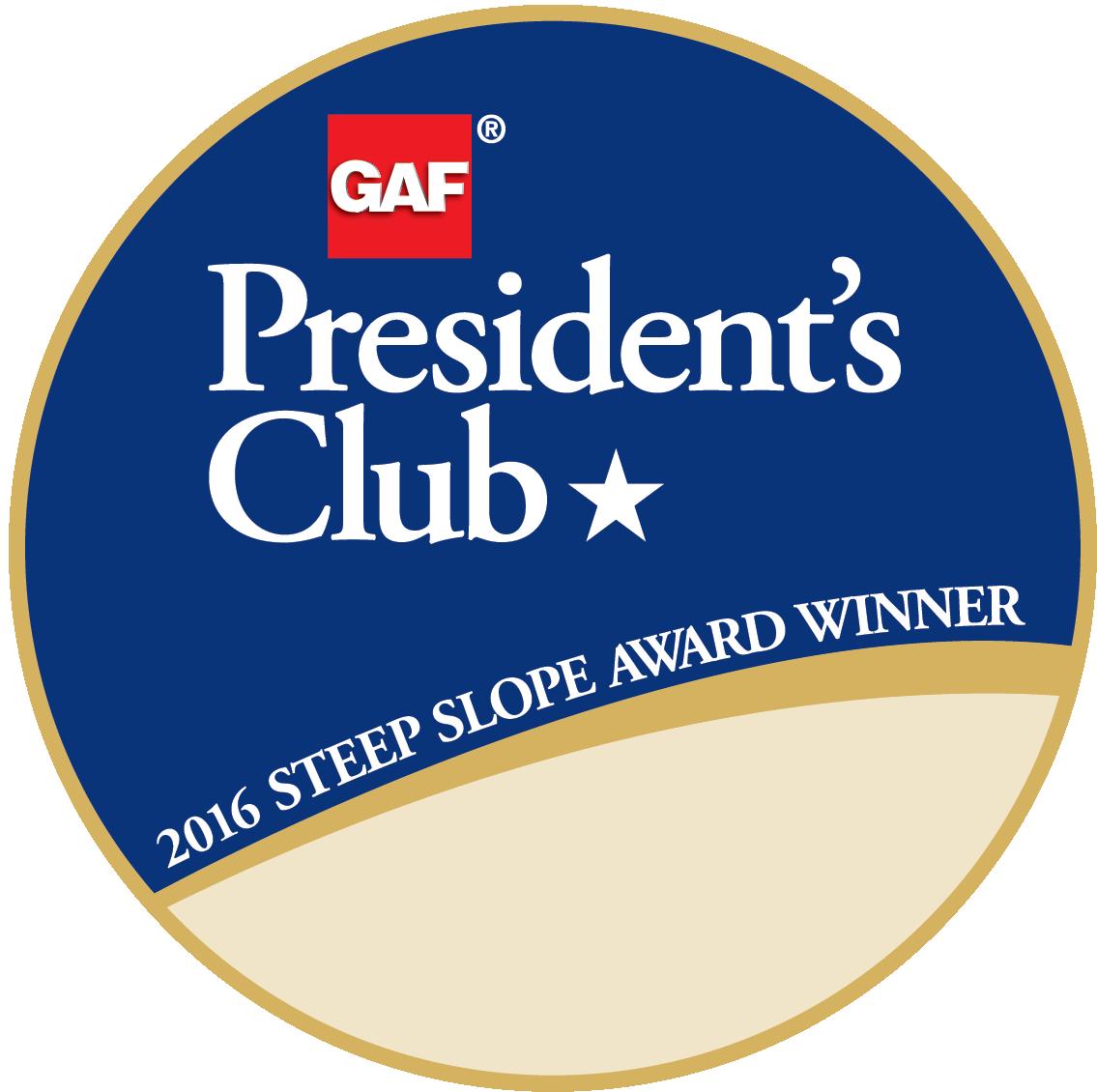 Spicer Bros. Construction Receives GAF's Prestigious 2017 President's Club Award
