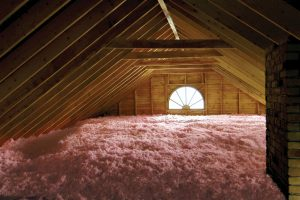 Owens Corning Blown-In Insulation in Attic