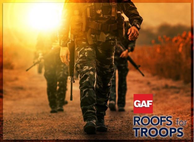 Showing Our Gratitude With GAF Roofs for Troops